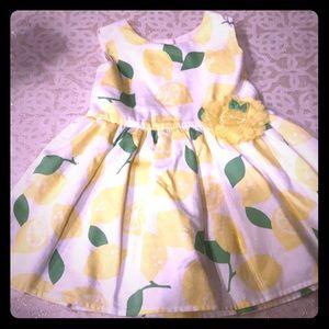 The Children's Place White Lemon Dress